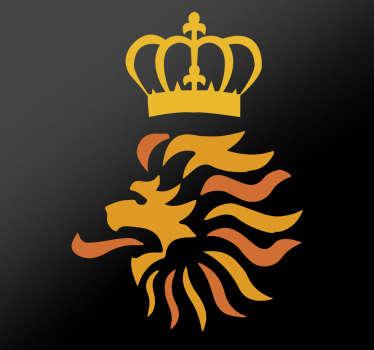 Muursticker Oranje Leeuwen logo, hoewel we het EK gemist hebben komt het Nederlands Elftal er wel weer bovenop, dus moedig onze spelers aan.