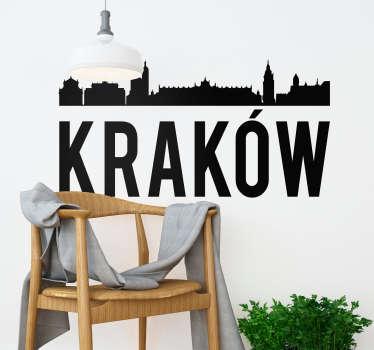 Autocolante da cidade de Krakow