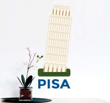 Adesivo disegno torre di Pisa