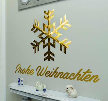 Wandsticker Frohe Weihnachten Schneeflocke