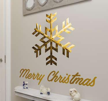 Sticker étoile Merry Christmas
