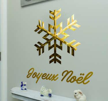 Sticker Joyeux Noël flocon