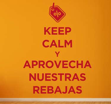 Pegatinas para tiendas rebajas keep calm