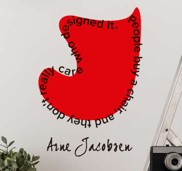 Arne Jacobsen ægget wallsticker