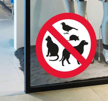 Naklejka Zakaz zwierzętom