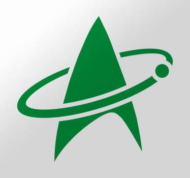 sticker logo star trek