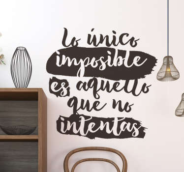 Vinilo lettering lo que no intentas