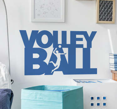 Olympic volley ball sport wall decal to decorate any space of choice.  It is self adhesive and easy to apply on a flat surface.