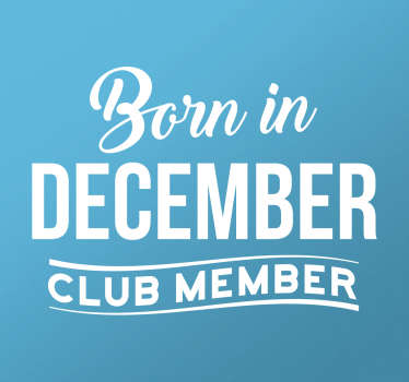 Adesivo mês personalizado Born in