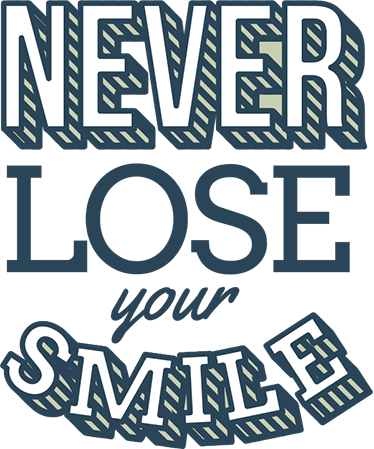 "TenStickers. Never Lose Your Smile. Motivational Wall Sticker. The wall sticker consists of the text ""never lose your smile!"""