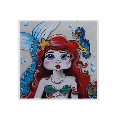 TenStickers. Wandtattoo Märchen Arielle die Meerjungfrau. Wandtattoo Märchen Arielle die Meerjungfrau - Kennen Ihre Kinder das Märchen der Meerjungfrau Arielle und würden sich über dieses Wandtattoo freuen?