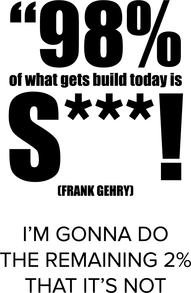 TenStickers. Muursticker tekst 98% Frank Gehry. Muursticker tekst 98% Frank Gehry, de tekst op de wanddecoratie is ¨98% of what gets build today is s***! I´m gonna do the remaining 2% that its not¨.
