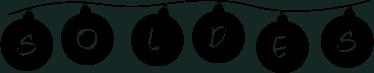 TenStickers. sticker soldes boules de Noel. Un sticker pour les soldes représentant des boules de guirlande de Noel, applicable sur toutes surfaces planes. Prix Imbattables.