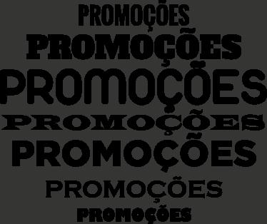 TenStickers. Adesivo para montras promoções. Sticker promoções com a palavra em diferentes tamanhos e fontes de letra. Ideal para decorar a montra da tua loja em época de saldos.