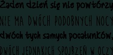 Naklejka Cytat Wisława Szymborska Nic Dwa Razy Tenstickers