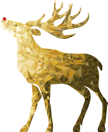 TenStickers. Golden Reindeer Decorative Wall Sticker. If you're looking for the perfect way to decorate your home this Christmas, look no further than this decorative wall sticker