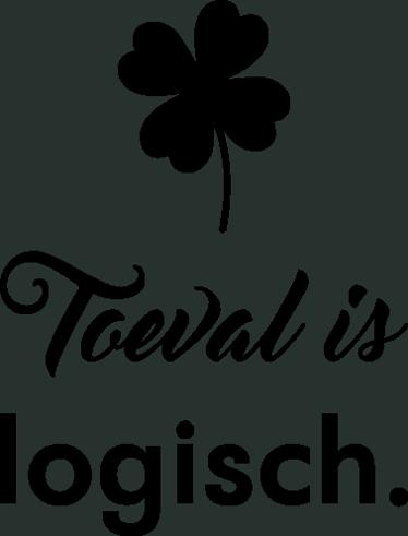 TenStickers. Muursticker Toeval is logisch. Muursticker Toeval is logisch, een van de vele bekende uitspraken van Johan Cruijff, met boven de tekst een klavertje vier.