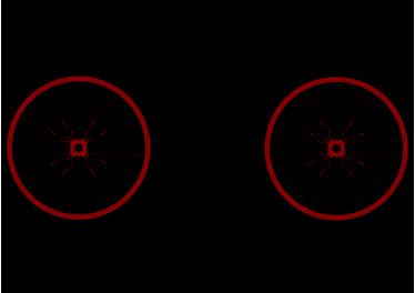 """TenStickers. Muursticker Fiets The Circles of Life. Muursticker met een fiets en de tekst """"The Circles of Life"""", een leuke wanddecoratie voor fietsers. Afmetingen aanpasbaar. Voordelig personaliseren."""
