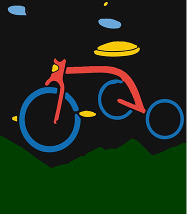 TenVinilo. Pegatinas nombre personalizable triciclo. Pegatinas nombre personalizado para el cuarto de los más pequeños de casa con el dibujo de un triciclo.