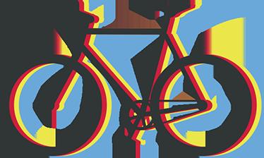 TENSTICKERS. 色とりどりのハローバイクサイクリングウォールステッカー. カラフルなサイクリングバイクのスポーツウォールステッカーデザイン。このデザインは、必要な任意のサイズで利用でき、自己粘着性があります。