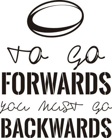 TenStickers. Muursticker To go forwards. Muursticker met de inspirerende tekst ¨To go Forwards you must go Backwards¨, met hierboven een cirkel.