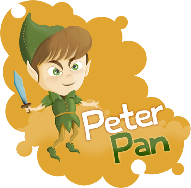 TenStickers. Kids Peter Pan Art Wall Decal. If you are a huge fan of the childhood classic Peter Pan then this vinyl wall decal from our collection of Peter Pan wall stickers is for you!