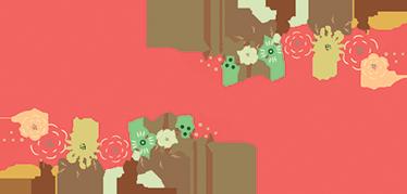 TenStickers. Sticker fête des mères fleurs. Sticker 'bonne fête des mères' avec des illustrations de fleurs colorées tout autour, idéal pour n'importe quelle vitrine.