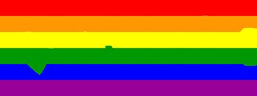 """TenStickers. Sticker pride gay. L'autocollant de texte se compose du mot """"fierté"""" avec le mot coloré dedans avec les couleurs de l'arc-en-ciel."""