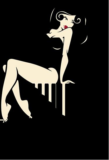 TenStickers. Muursticker lichtschakelaar sexy pinup. Muursticker geschikt voor een lichtschakelaar met een sexy pinup model dat op de lichtschakelaar lijkt te zitten.