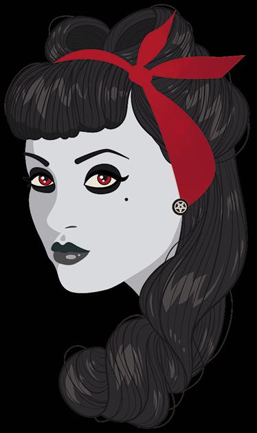 TenStickers. Sticker pin-up zombie. Sticker pin-up zombie. Décorez votre maison à votre image qui est l'envie d'etre toujours sensuelle en toutes circonstances avec ce sticker.