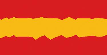 TenVinilo. Vinilo bandera de España Hexadecimal. Representación de la bandera rojigualda en la que los colores aparecen doblemente representados: con el color y su valor en código hexadecimal.