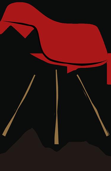 TenVinilo. Vinilo decorativo colección silla eames. Vinilo diseño con la ilustración de la Eames Plastic Chair de Charles y Ray Eames.