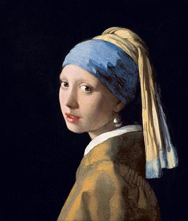TenStickers. Adesivo decorativo Ragazza col Turbante. Adesivo murale che contiene una delle opere d'arte più famose, tra i lavori migliori dell'olandese Jan Vermeer, la ragazza col Turbante.