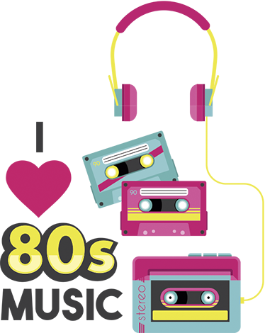 TenStickers. 80s Music Decorative Sticker. Share your love for the greatest era in music with this colourful and eye-catching textual and visual wall sticker! A fitting homage to the decade