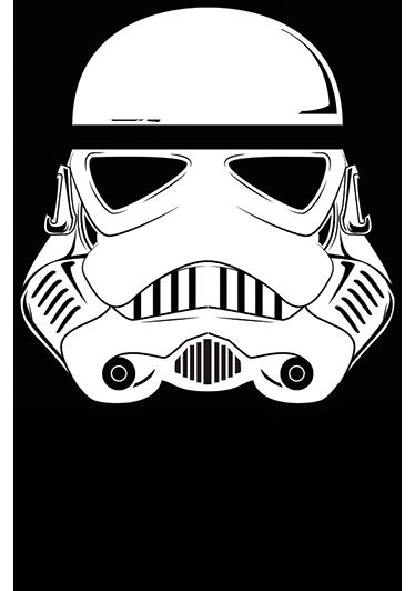 TenVinilo. Adhesivo guardia imperial Star Wars. Opta por este original vinilo Star Wars para pared que muestra la ilustración de un soldado imperial y el logo de la famosa saga de películas.