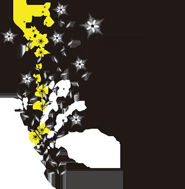 TenStickers. Vinil floral letras chinesas paz. Vinil autocolante Paz em letras chinesas. Decora o teu espaço com este pacifico vinil autocolante de qualidade e por um preço económico.