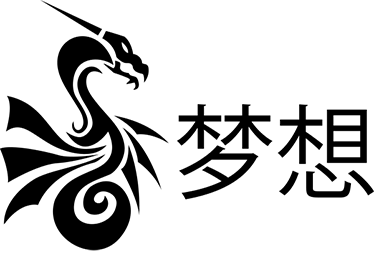 TenStickers. Sticker lettres chinoises rêves. Sticker de lettres chinoises signifiant rêves accompagné d'un dessin d'un dragon, élément typique de la culture orientale.