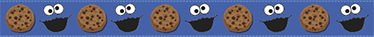 TenStickers. Muursticker lange cookie monster. Deze blauwe lange Muursticker van het Cookie monster met een koekje, is een mooie en vrolijke wanddecoratie