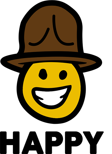 TenStickers. Pharrell Happy Face Decorative Wall Sticker. If you're a fan of the musician Pharrell, and you also love to keep your home a happy, positive environment, this decorative wall sticker is the one