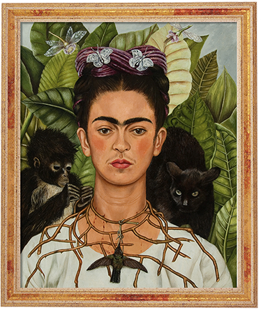 TenStickers. Wanddecoratie portret sticker. Nieuw! Onze kunst portretten collectie, dit portret bevat het beroemde werk van Frida Khalbo, het zelf portret.