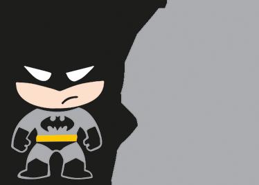 TenStickers. Sticker baby on board batman. Un sticker pour voiture 'baby on board' (bébé à bord) avec une illustration d'un petit batman, pour votre petit super-héros.