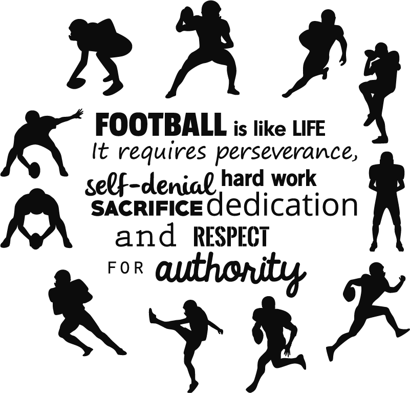 TenStickers. Wandtattoo American Football is Life. Cooles Wandtattoo geeignet für jeden Liehaber des Sports American Football