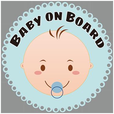 """TenStickers. Adesivo per macchina bebé inglese. Adesivo per auto con il testo in inglese """"baby on board"""""""