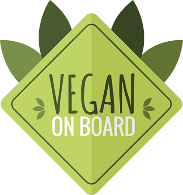 "/""VEGAN On Board/"" Voiture Signe Autocollant Voiture Vegan sain"