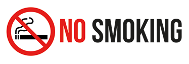 "TenStickers. No Smoking Sign. If you require your space to be smoke free, this ""no smoking"" sticker is ideal for your shop/restaurant/business! Featuring a scored out lit cigarette"