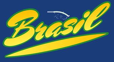 TenStickers. Adesivo de texto Brasil. Adesivo de texto Brasil. Agora pode mostrar o orgulho que tem pelo seu país, disponível em diferentes tamanhos e a um preço muito económico.