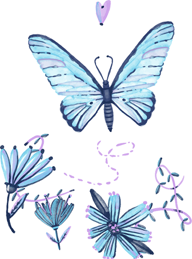 TenStickers. Watercolour Butterfly. Give your home a bright and summery feel with this artistic and beautiful decorative wall sticker! Featuring a butterfly and some flowers