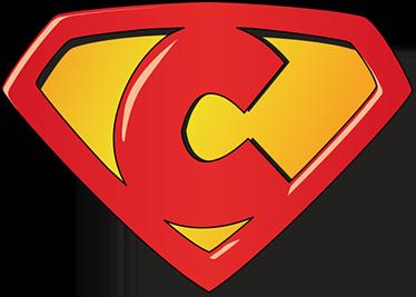TenVinilo. Vinilo infantil super C. Pegatinas de superhéroes para tus hijos con una representación de un escudo basado en la letra inicial de su nombre.