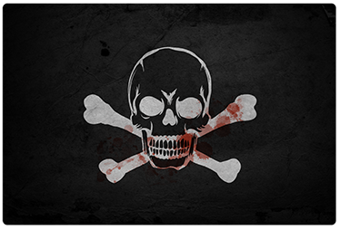 TenStickers. Pirate Flag Laptop Sticker. All aboard! Let this fun adhesive laptop sticker bring an air of mystery and skulduggery to your computer. Easy to apply as well as remove