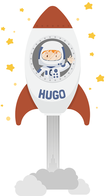TenStickers. Personalised Kids Rocket Wall Sticker. Personalised kids wall sticker showing a cute astronaut in his rocket blasting off to space to see the stars, from our collection of space wall stickers. This personalised sticker allows you to put any name you like on the rocket allowing for a completely personalised look for your child's bedroom.
